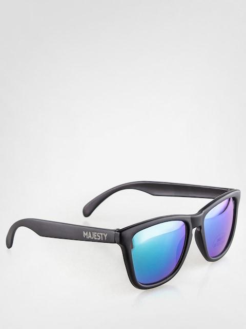 Majesty Sunglasses Shades (matt black/green mirror lens)