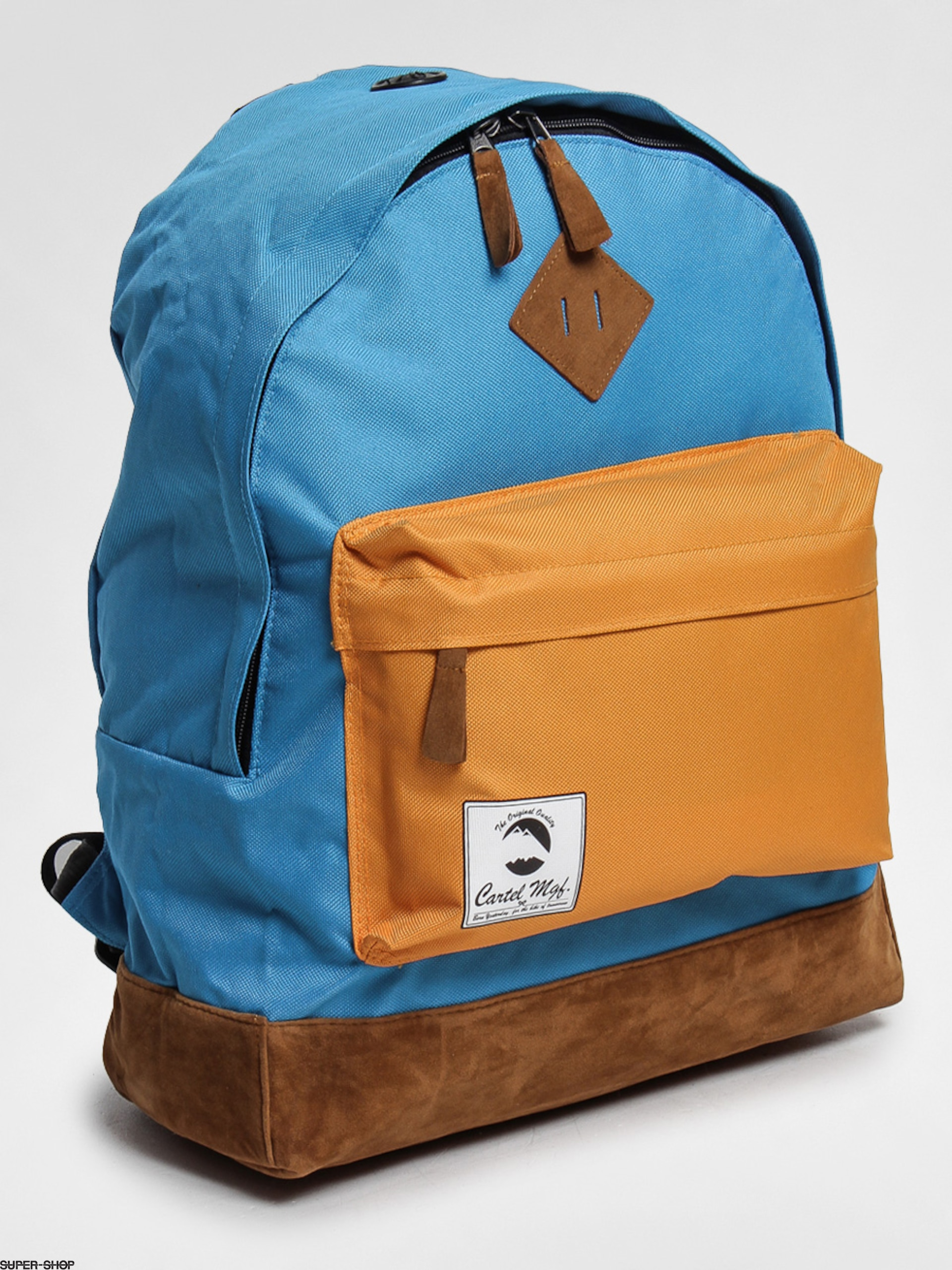 Cartel backpack Classic (mat blue/warm red)
