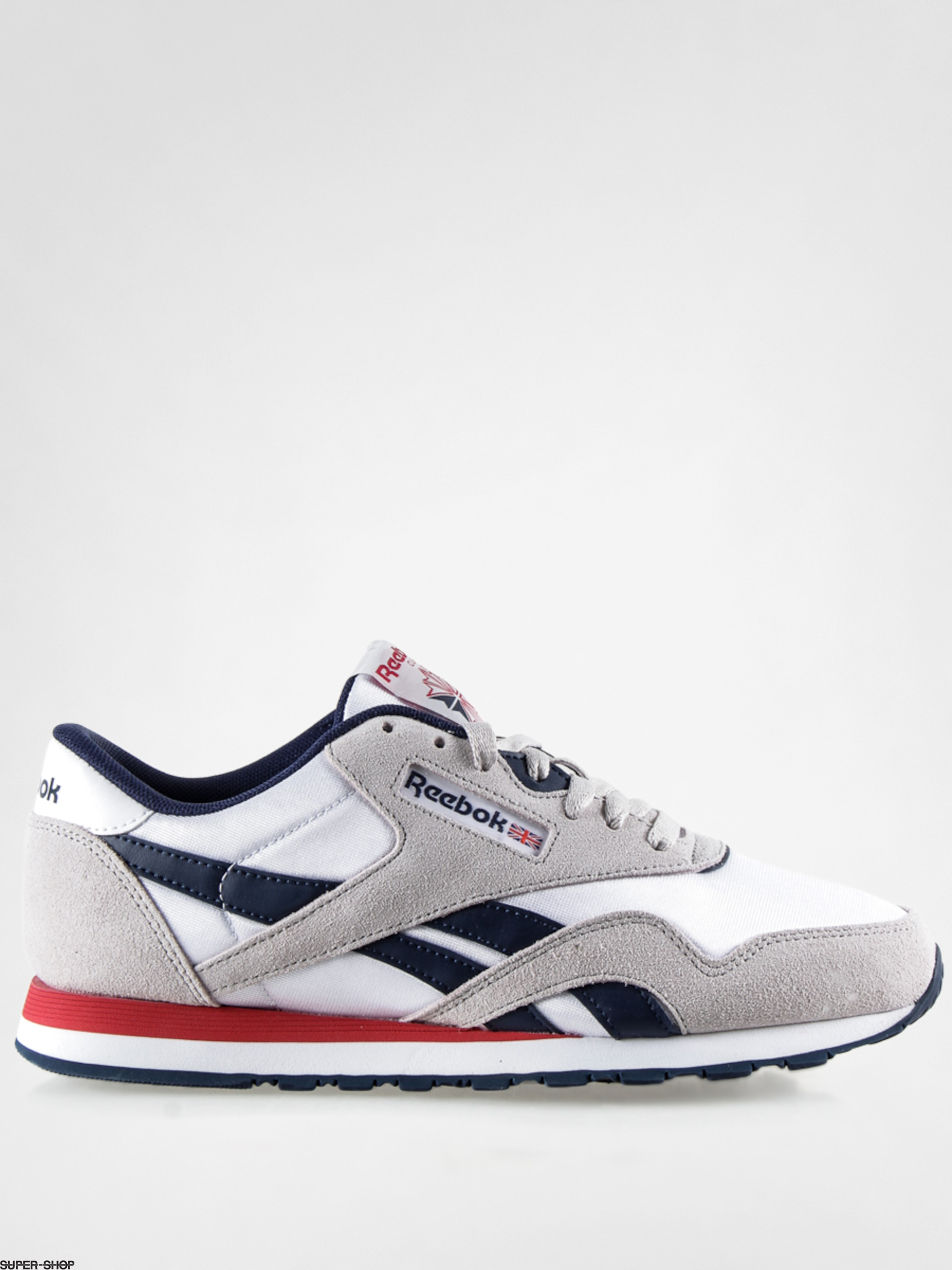 b1905d85edd Reebok Shoes CL Nylon SP (white steel navy red)
