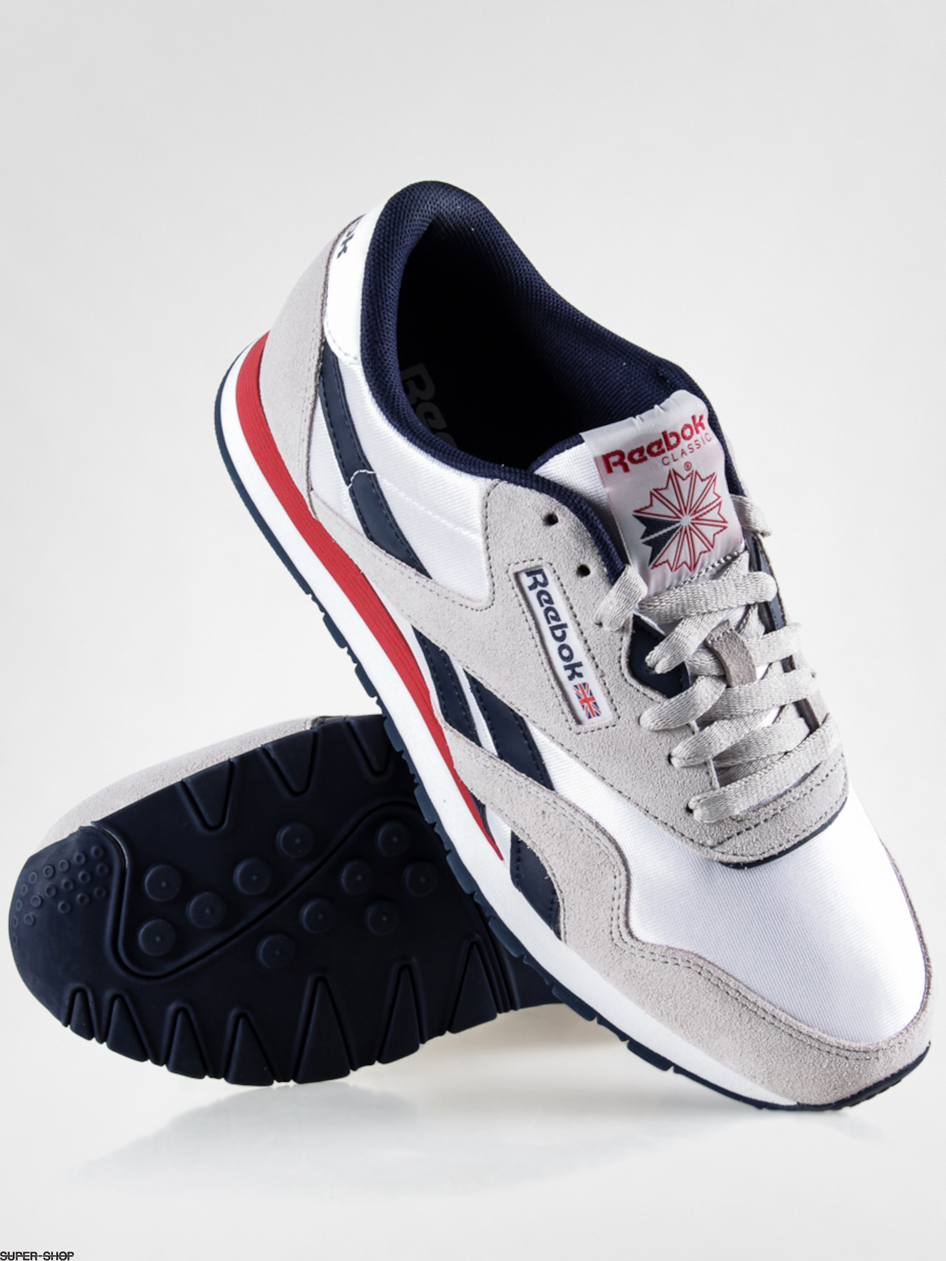 Reebok Shoes CL Nylon SP (white steel navy red) 2d047465efb2