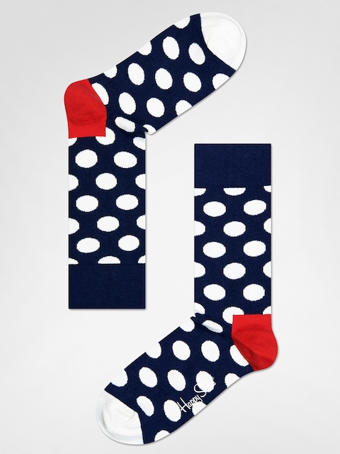 Happy Socks Socks Big Dot (navy/red/white)