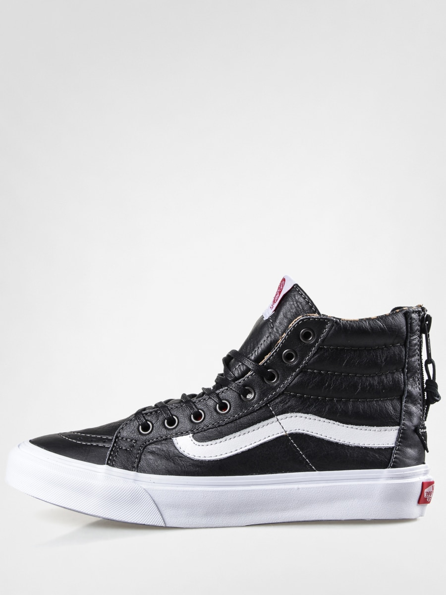 Vans Shoes Sk8 Hi Slim Zip (leatherblackleopard)