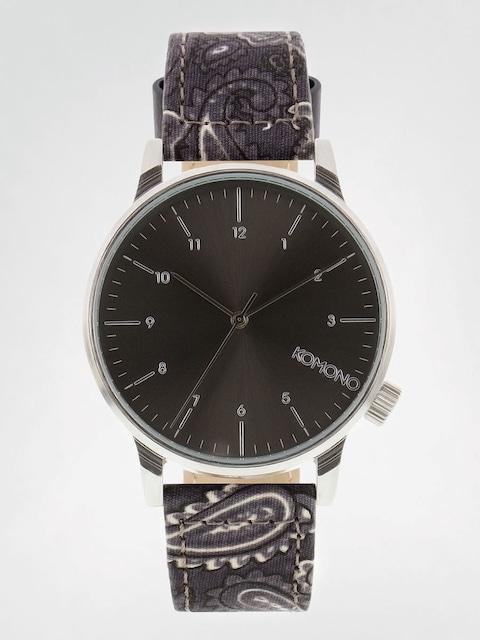 Komono Uhr Winston (print black paisley)
