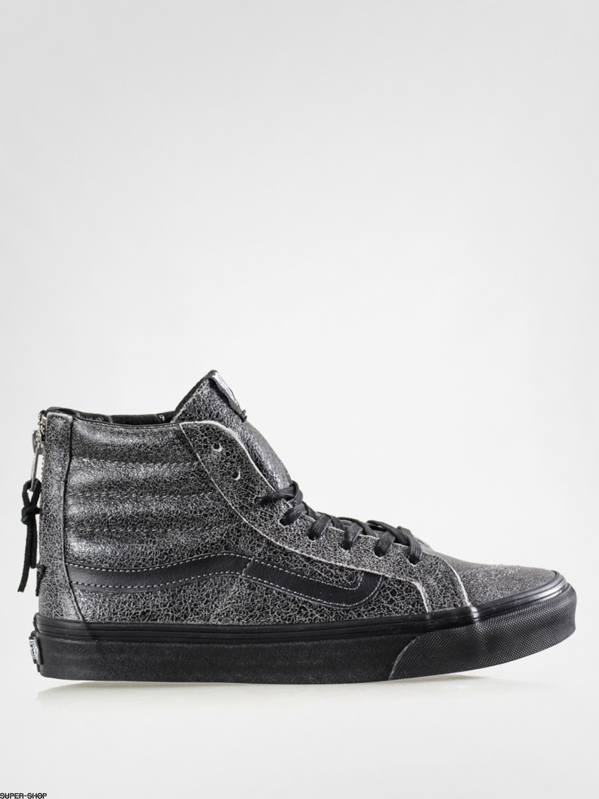 71870e914ae7 Vans Shoes Sk8 Hi Slim Zip (crackle suede black)