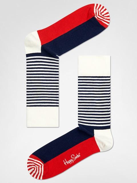 Happy Socks Stripe Half (navy/red/white)