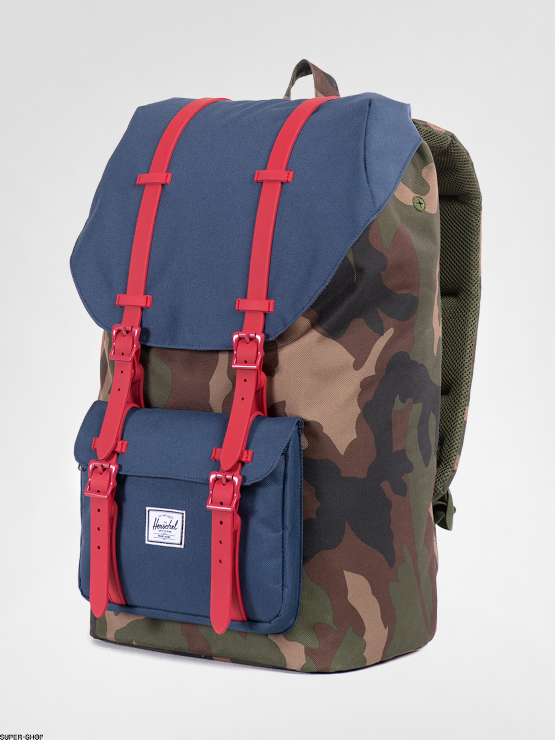 Herschel Supply Co. Backpack Little America (woodland camo/navy/red rubber)