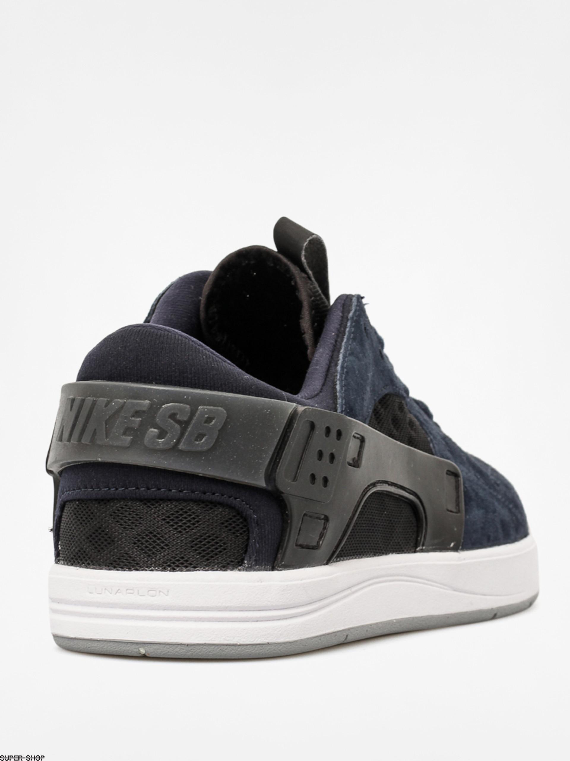 56bbdcada555 Nike Shoes Eric Koston Huarache (drk obsidian white blk wlf gry)