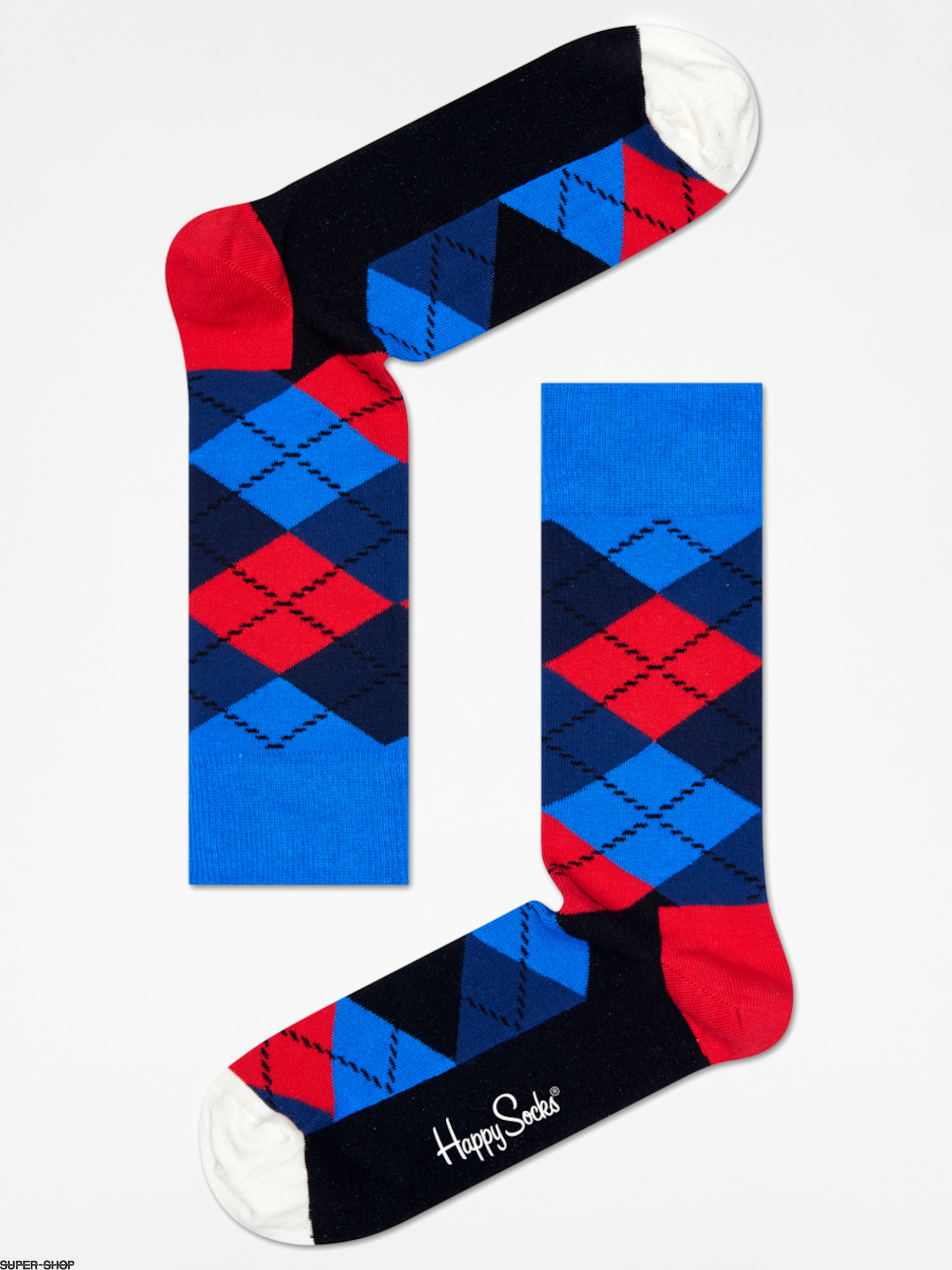 Happy Socks Socken Argyle (blue/navy/red/black/white)