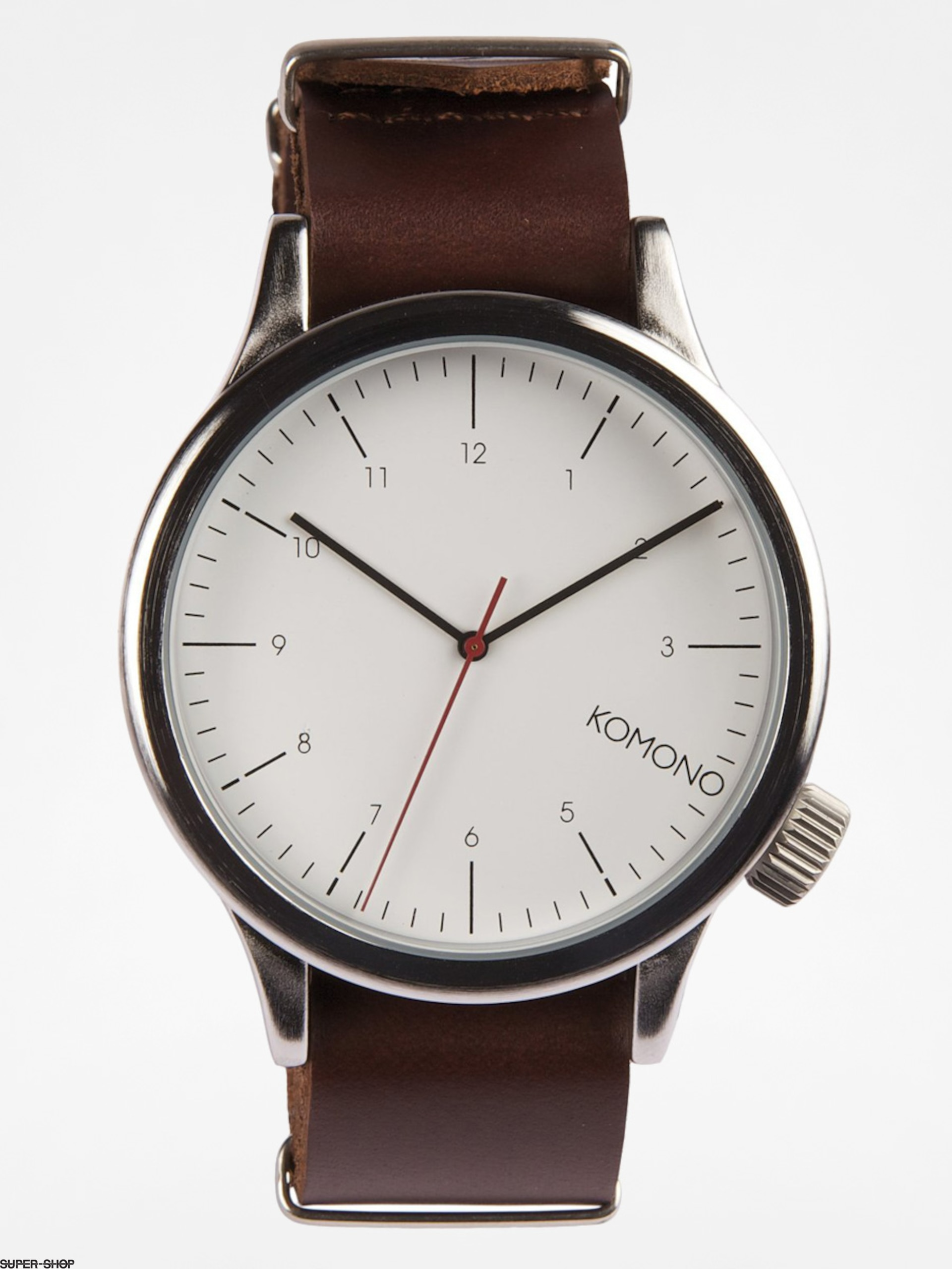 Komono Watch Magnus (silver/burgundy)