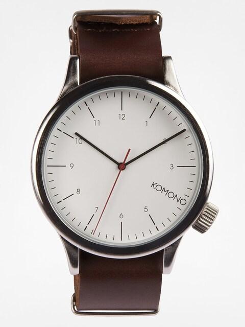 Komono Uhr Magnus (silver/burgundy)