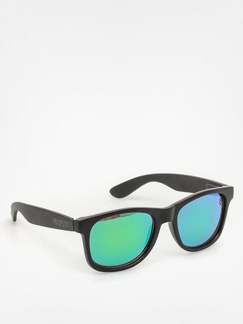 Majesty Sunglasses Shades L (matt black/polished black green lenses)