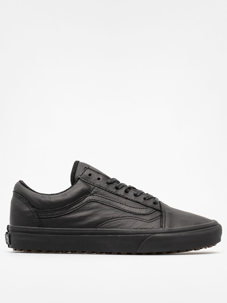 black on black leather vans
