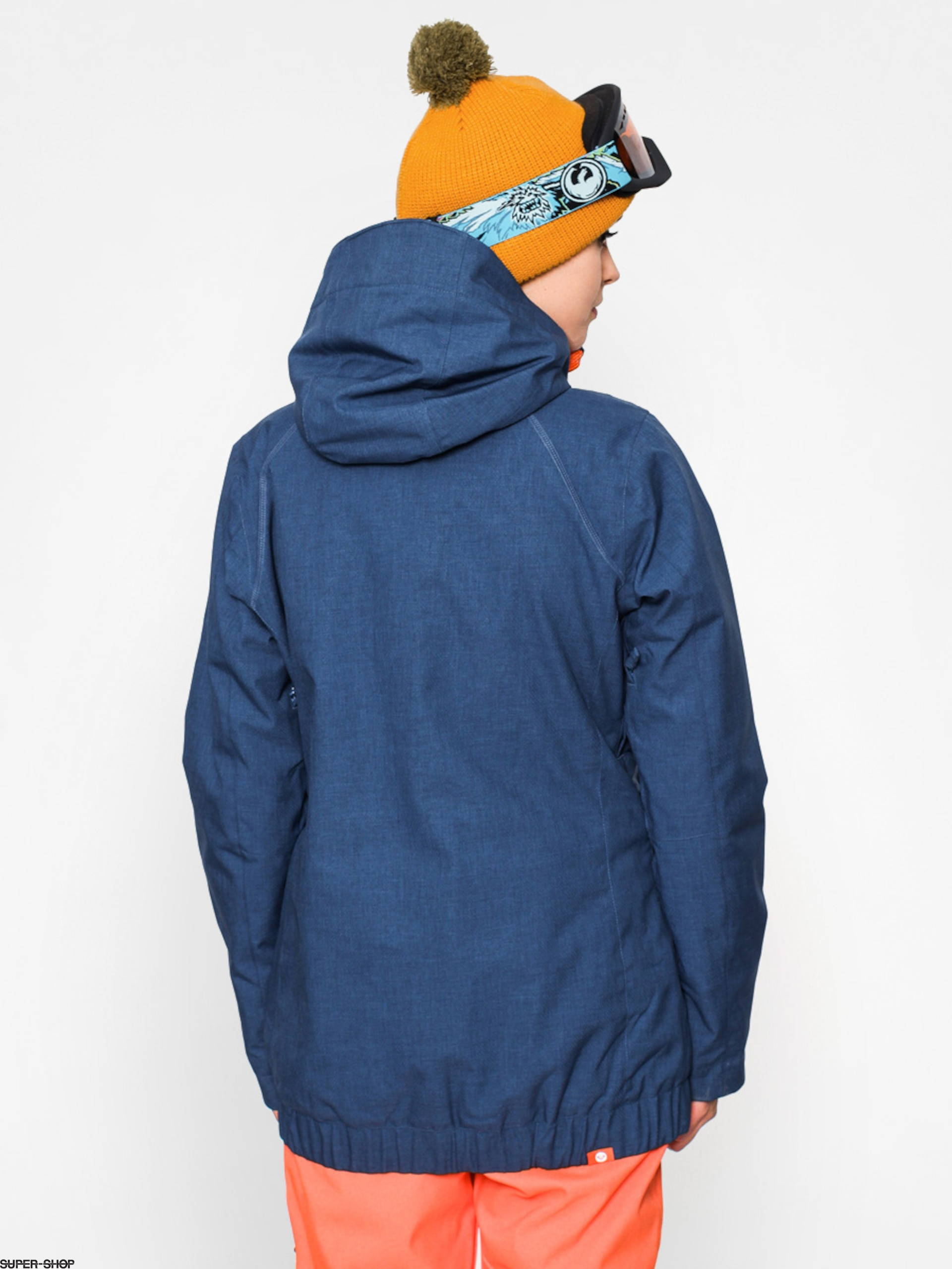 Roxy Snowboard Jacket Valley Hood Wmn Steel Blue Orange