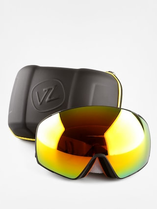 NEW Von Zipper Jetpack Goggles-SIC Charcoal Satin-Chrm+Yellow-SAME DAY SHIPPING!