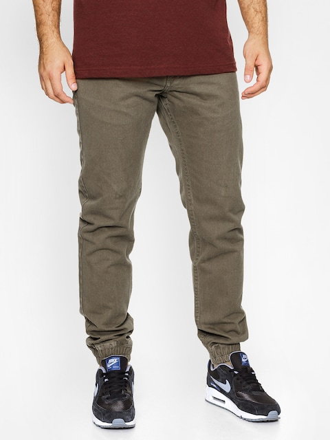 MassDnm Pants Signature Jogger Sneaker Fit (olive green)
