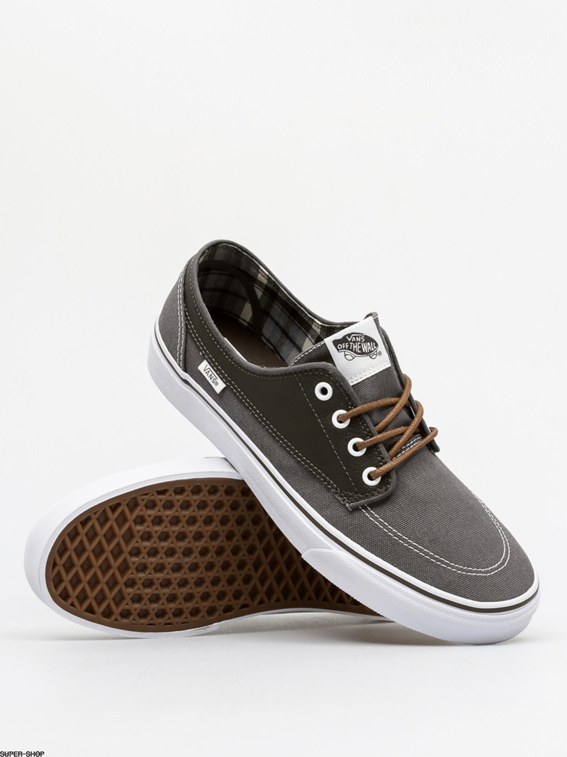Vans Shoes Brigata (leather/plaid/asphalt/beluga)