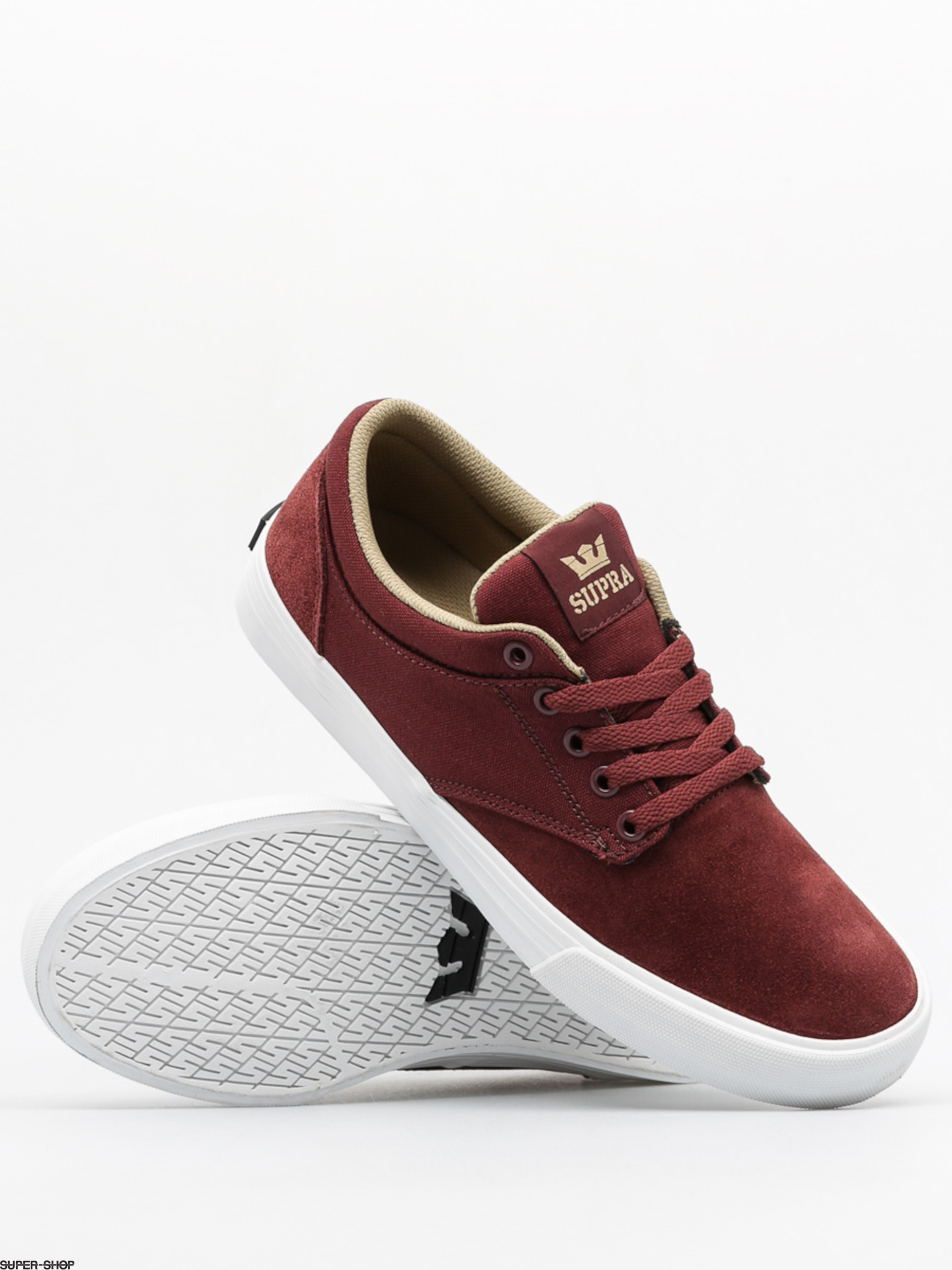 Supra Shoes Chino (burgundy khaki white) ac7d38c29