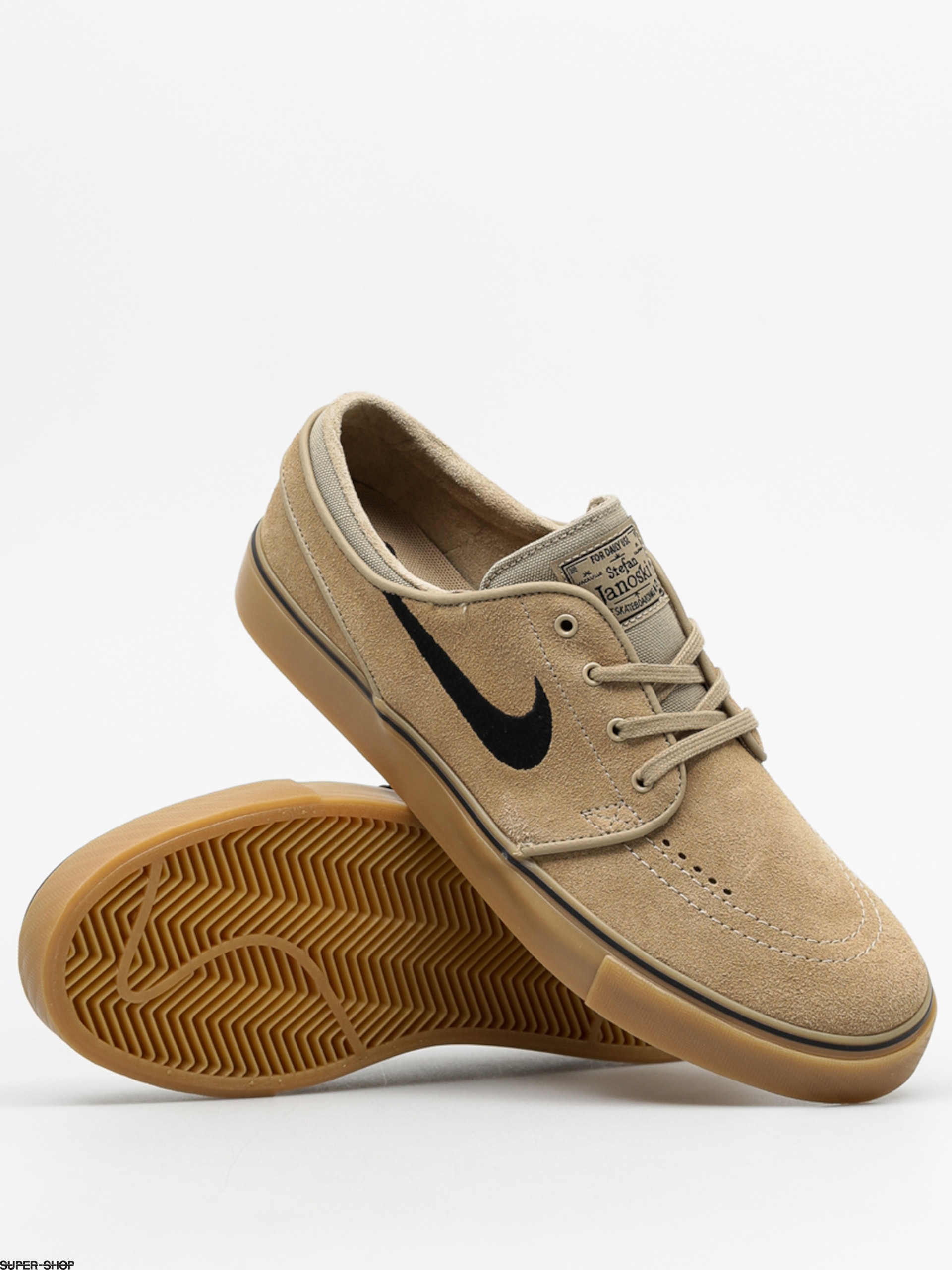 Nike Sb Stefan Janoski Shoes Khaki Black Gum Light Brown