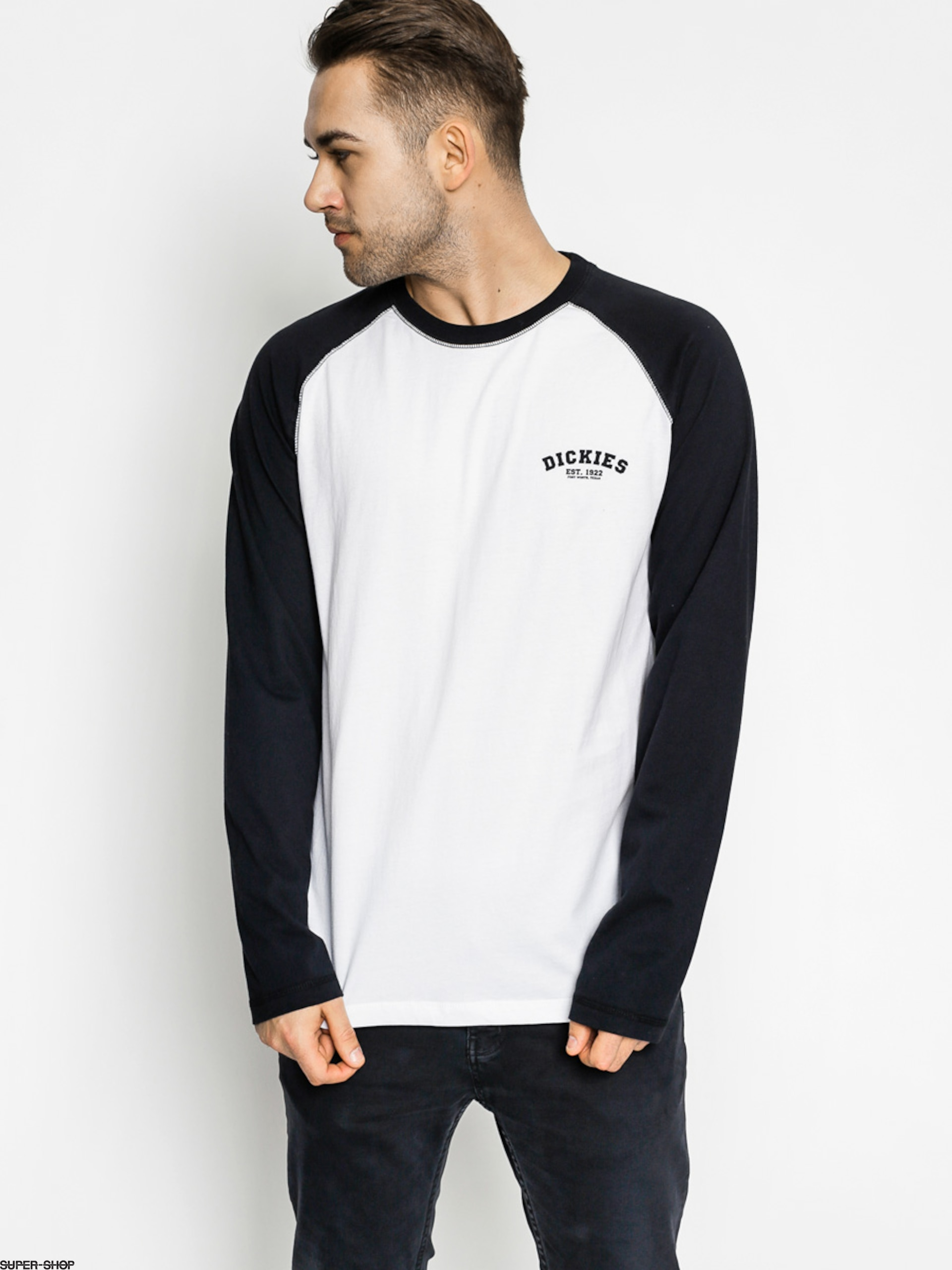 Dickies Longsleeve Baseball (black/white)
