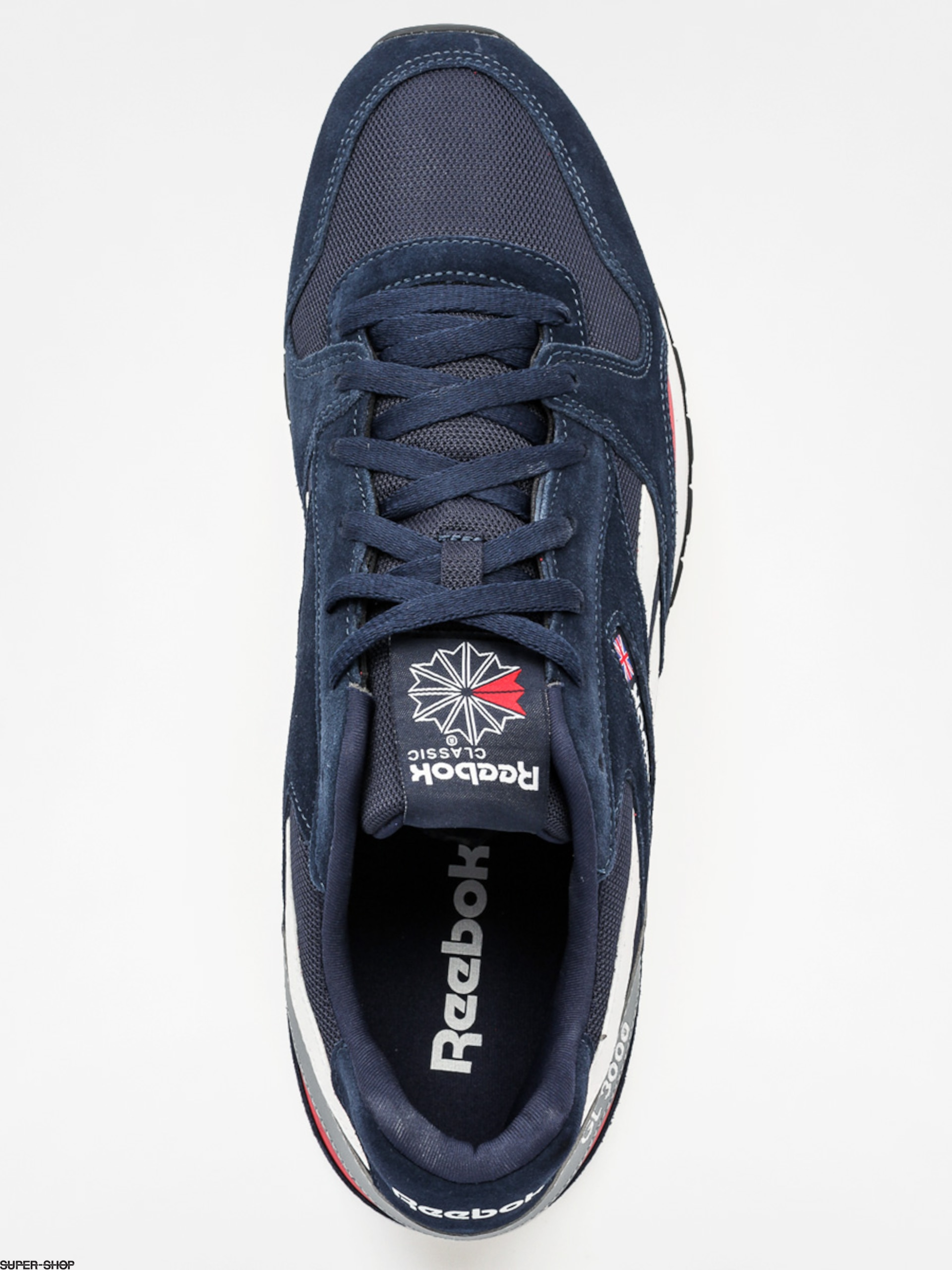Reebok Shoes Gl 3000 (faux indigo scarlet grey) 90765abe8