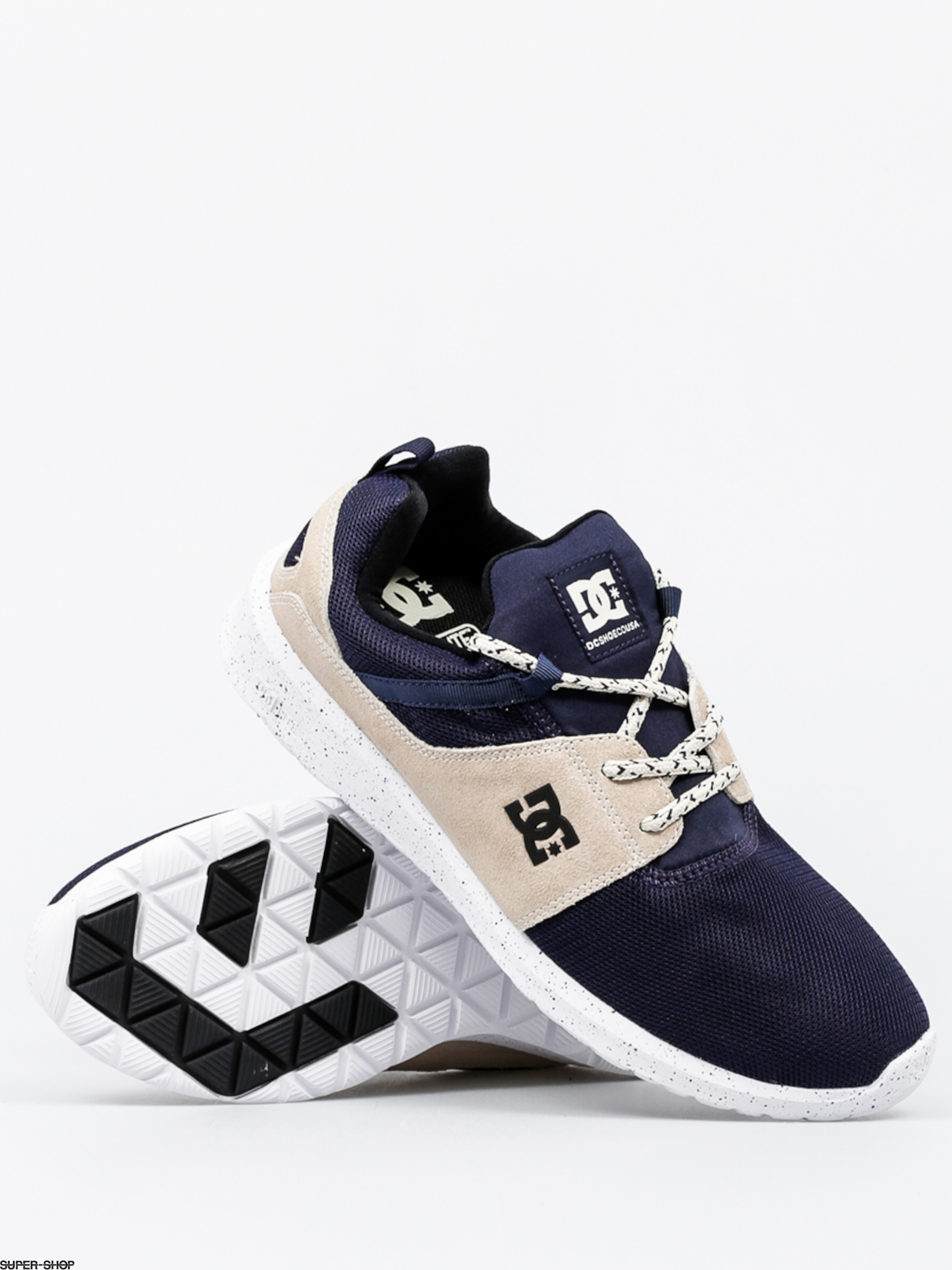 Dc Shoes Navy White Unisex'S Heathrow Se