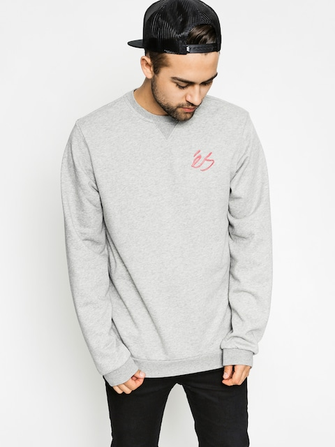 Es Sweatshirt Script Crew (grey heather)