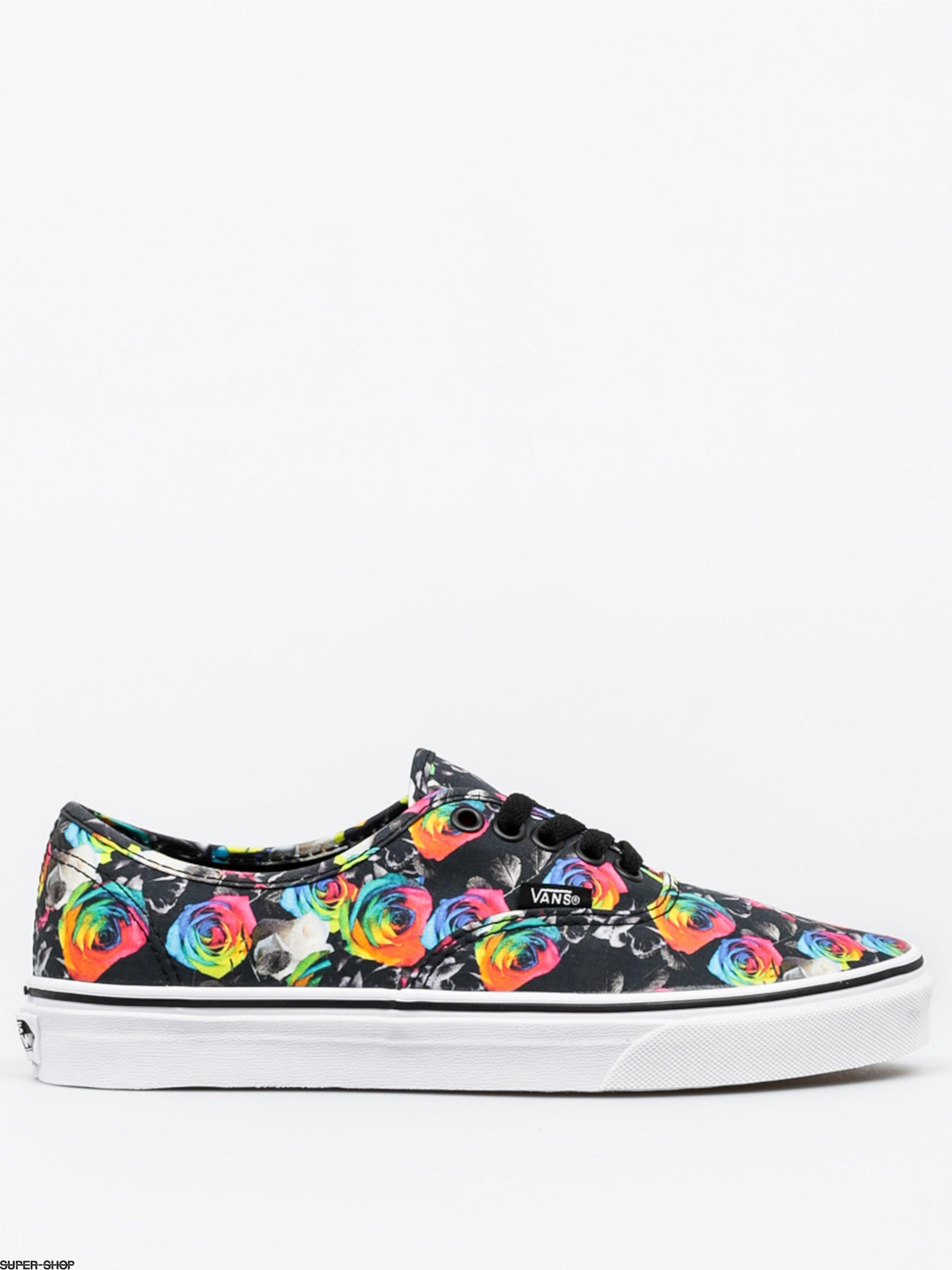 b1987cb7f3 Vans Shoes Authentic (rainbow floral black true white)