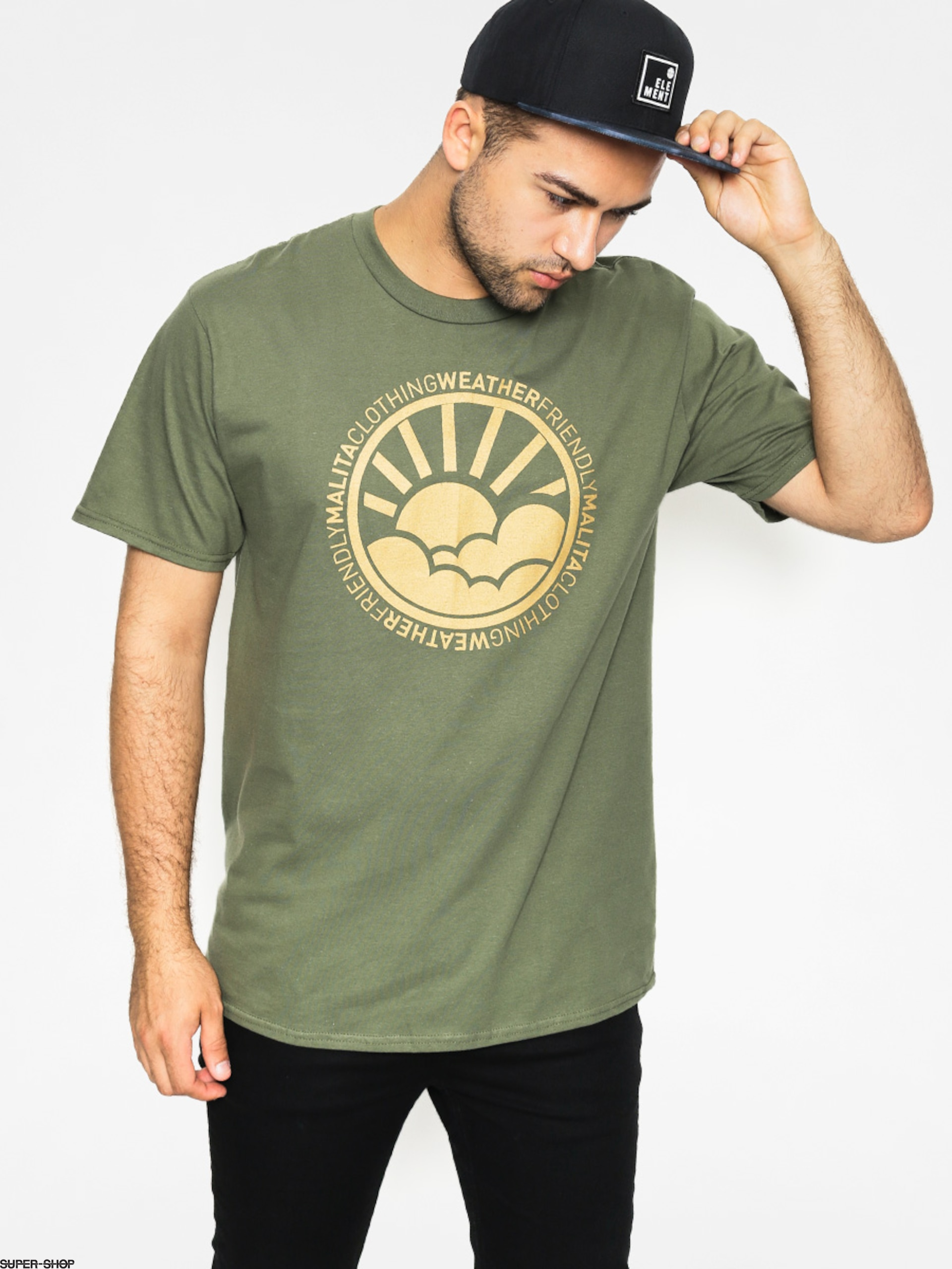 Malita T-shirt Environment (green/gold)