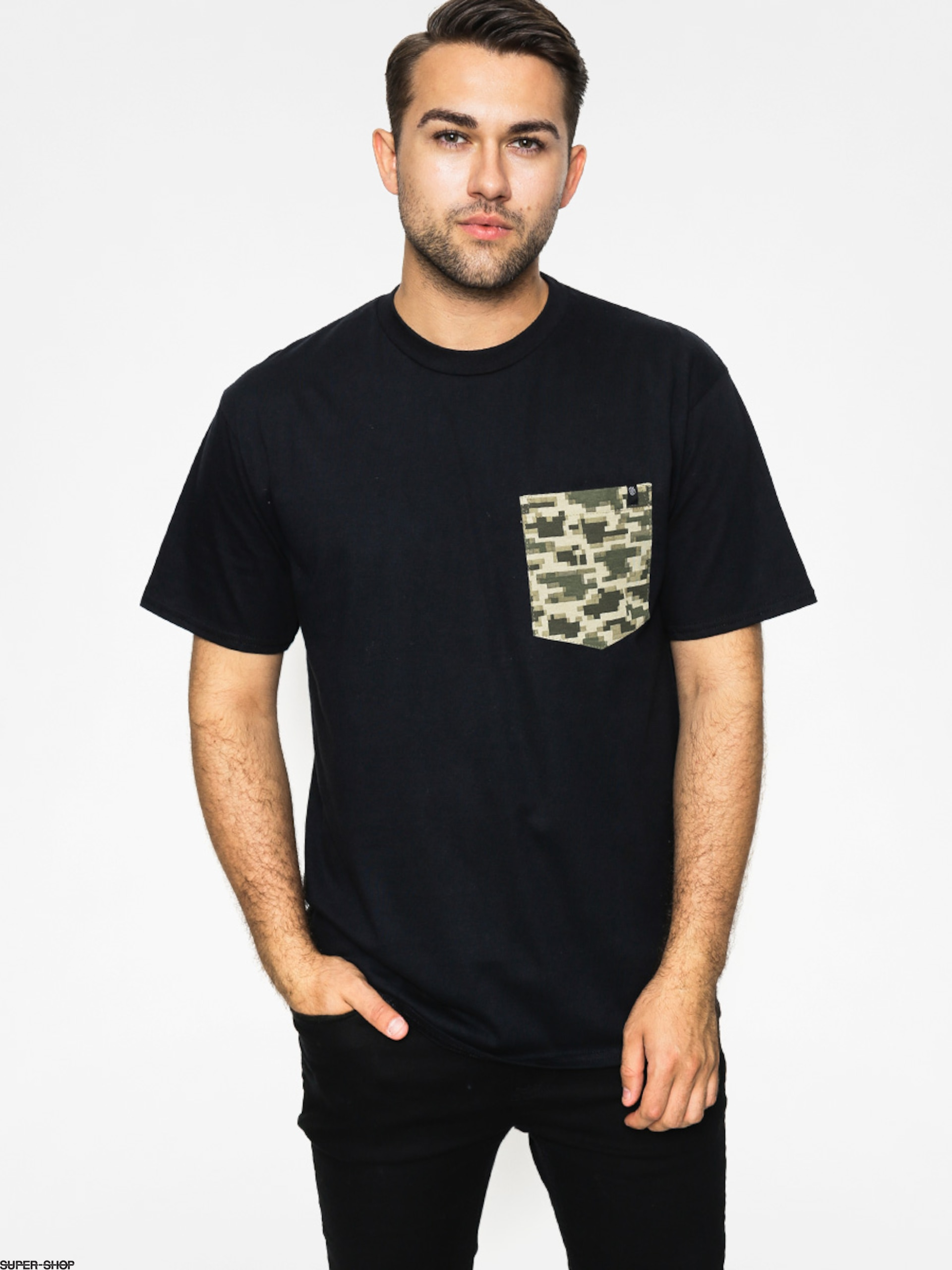 Malita T-shirt Kamo Pocket (black)