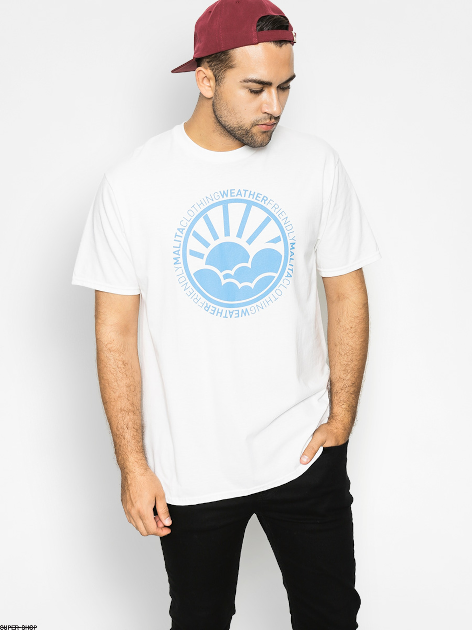 Malita T-shirt Environment (white/blue)