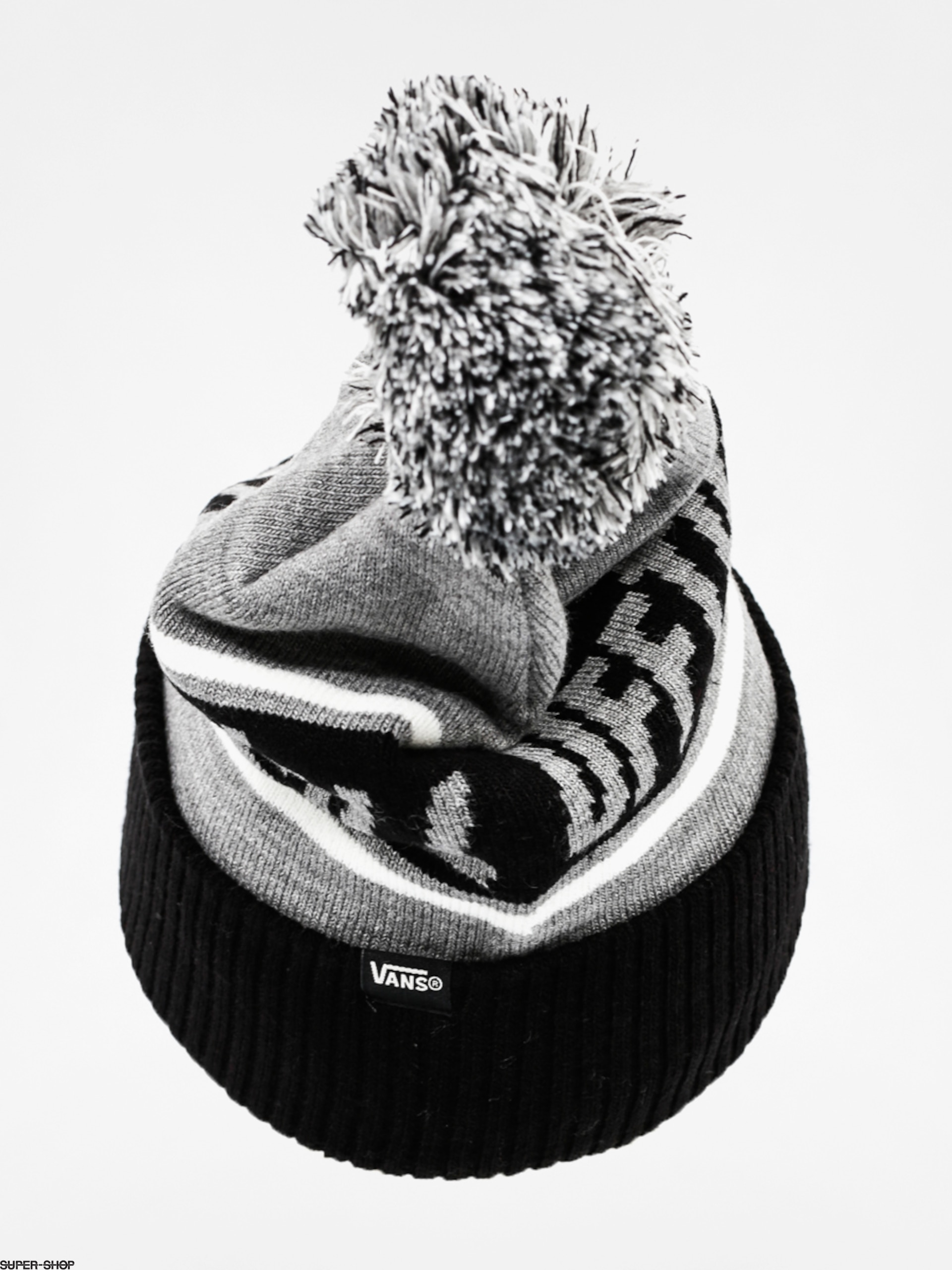 bc07babfd95 Vans Beanie Off The Wall Pom Beanie (black heather grey)
