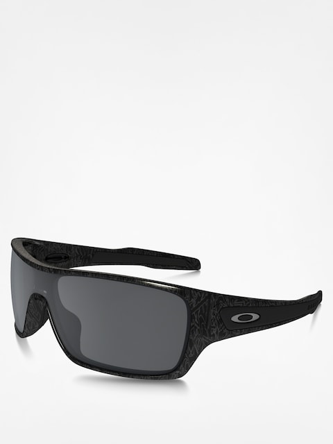 Oakley Sonnenbrille Turbine Rotor (black/silver ghost text/black iridium)