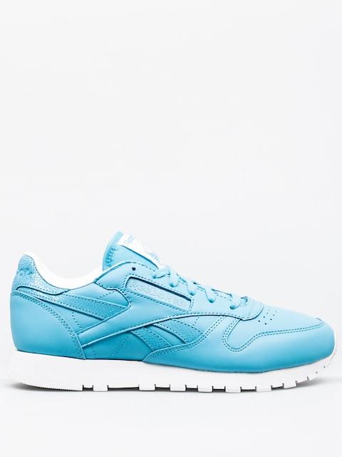 Reebok Schuhe Classic Leather Seasonal II Wmn (crisp blue/white)