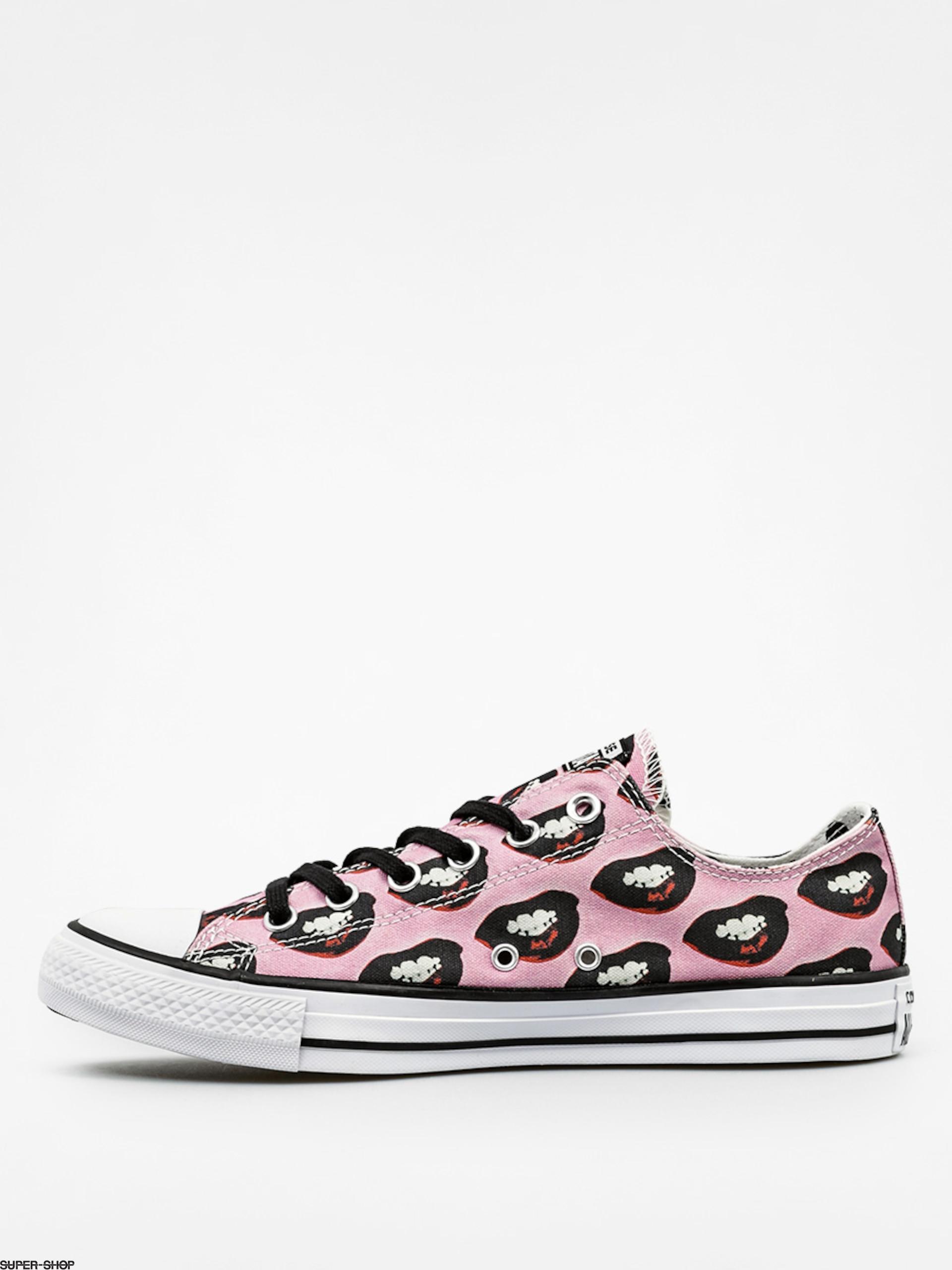 229f64775a46 Converse Chucks Chuck Taylor All Star Ox (white black multi pink)