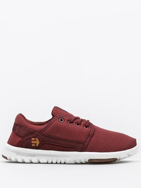 Etnies Shoes Scout Wmn (burgundy/tan/white)