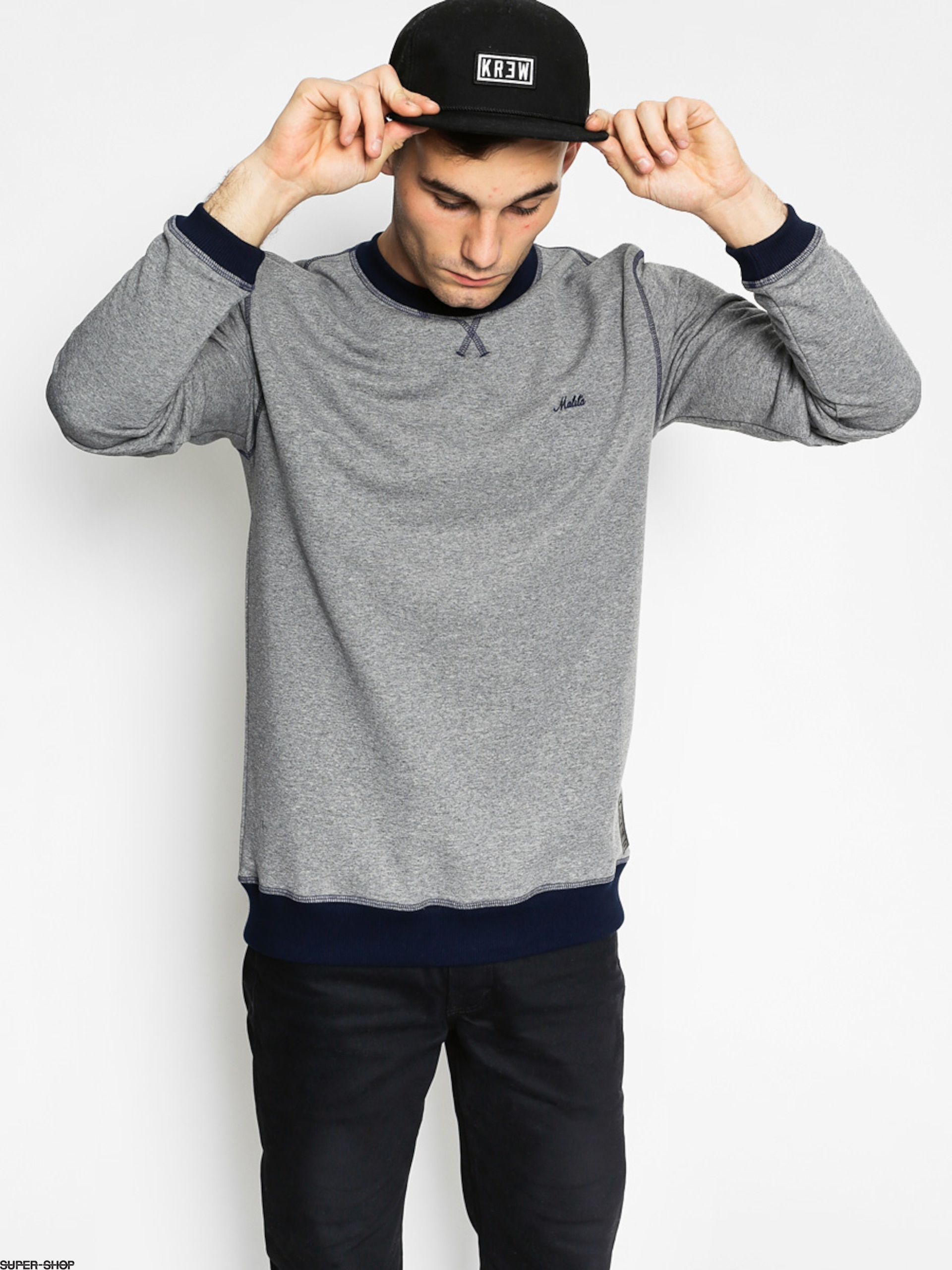 Malita Sweatshirt Icon (heather grey/navy simple)