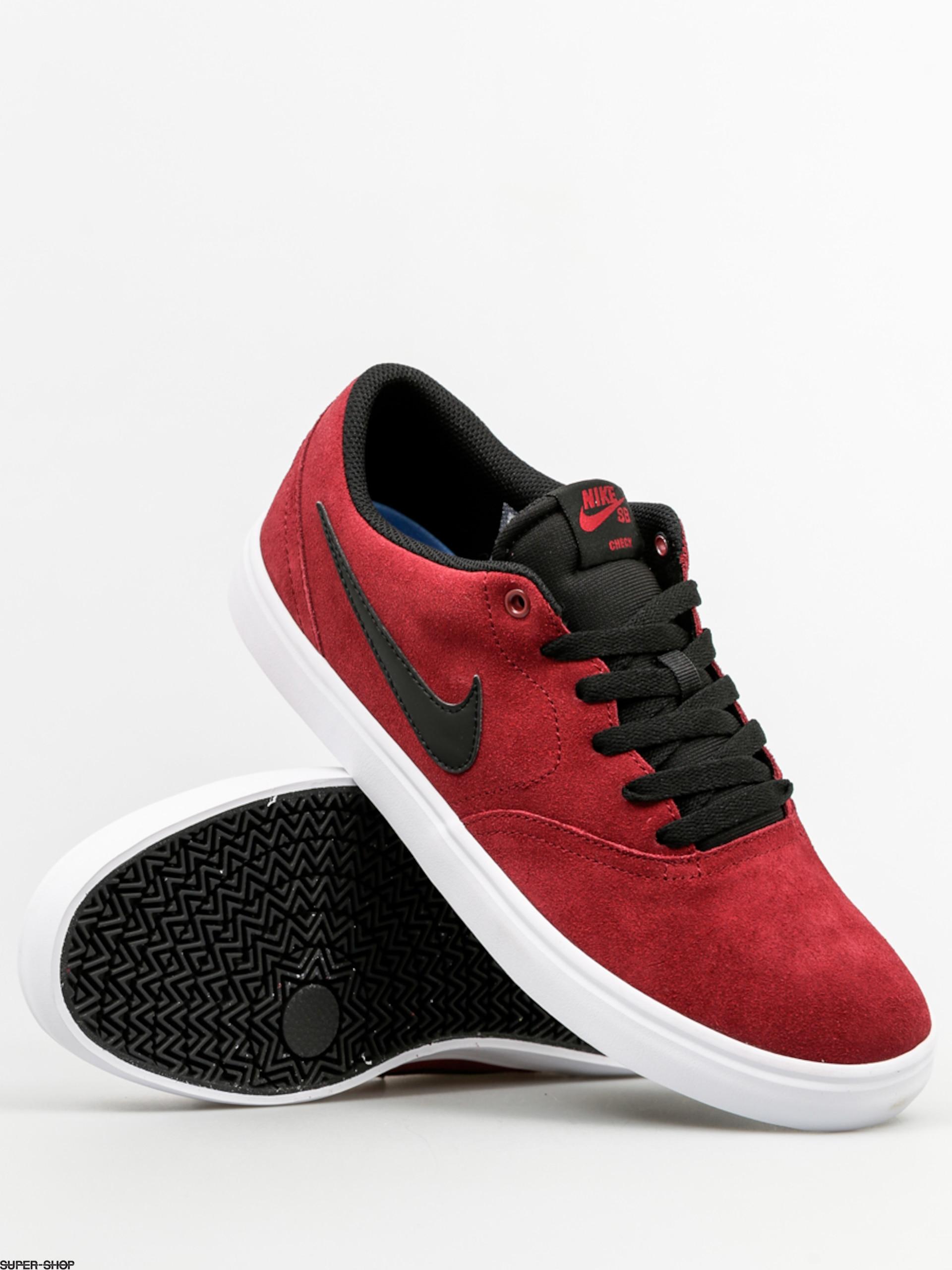 Nike Sb Shoes Check Solar Team Red Black