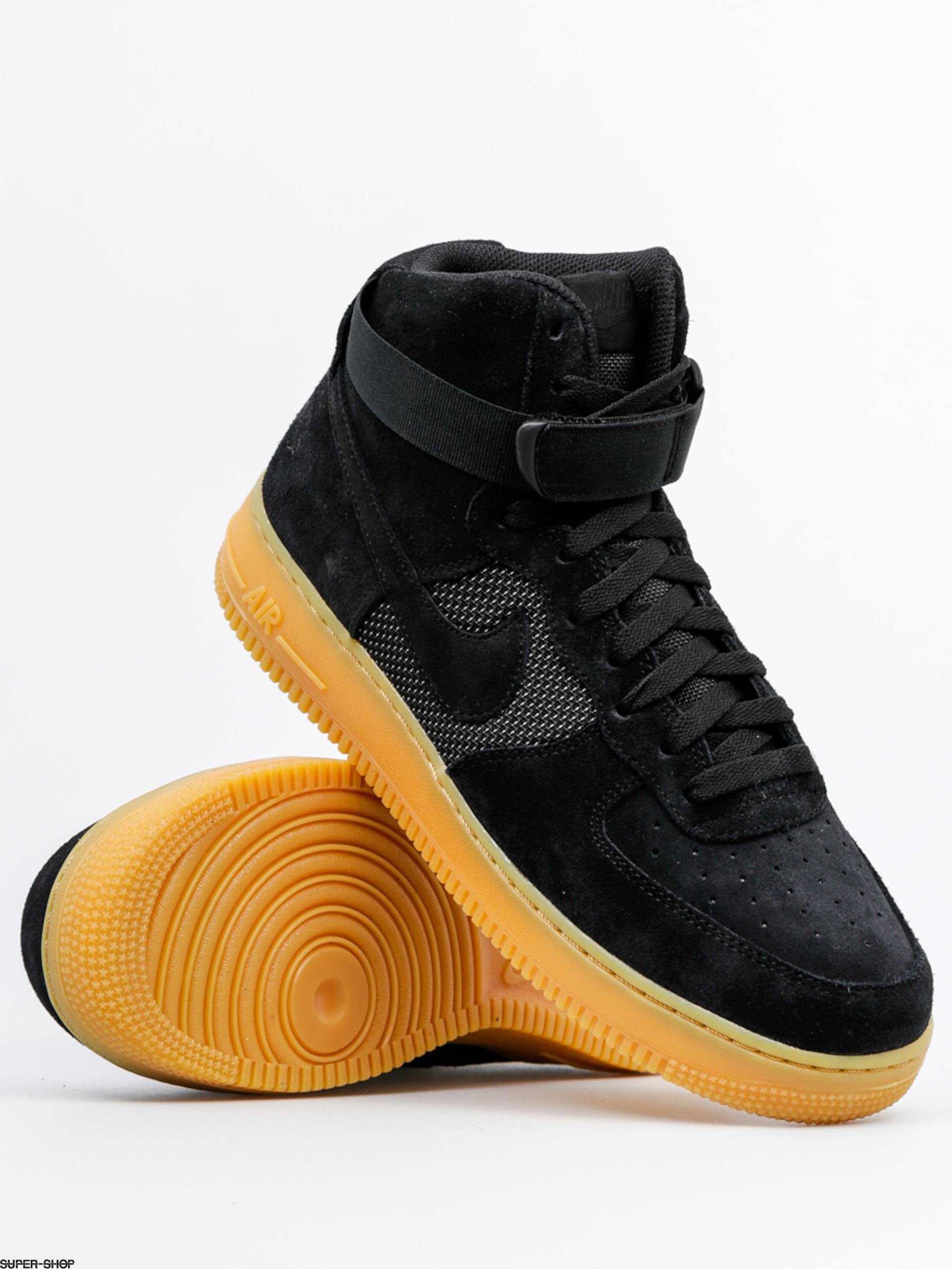 best cheap de7d8 5fb66 Nike Schuhe Air Force 1 High 07 Lv8 (black/black gum light brown)