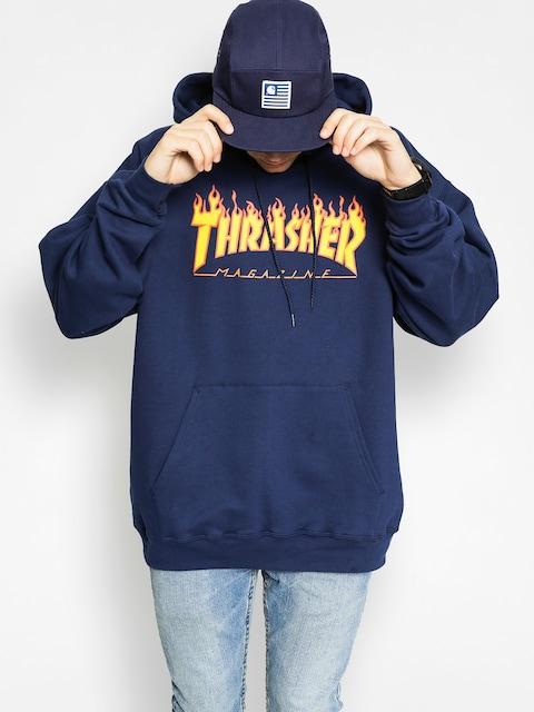 Thrasher Hoodie Flame HD (navy)