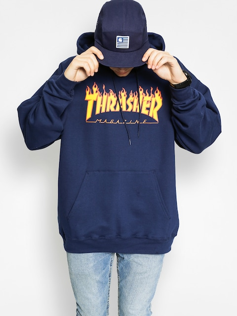 Thrasher Hoody Flame HD (navy)