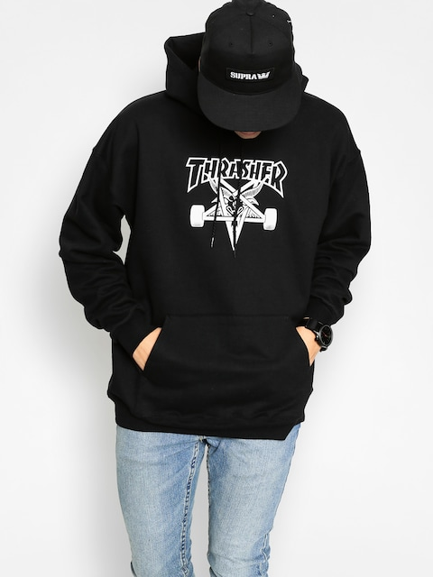 Thrasher Hoody Skate Goat HD (black/white)