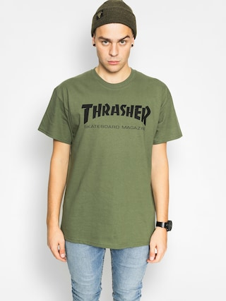 Thrasher T-shirt Skate Mag (military green)