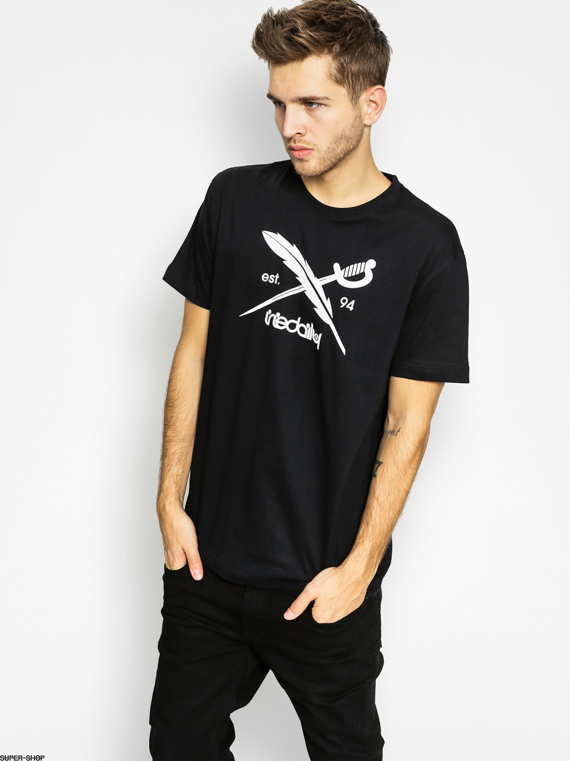 Iriedaily T-Shirt Daily Flag (black)