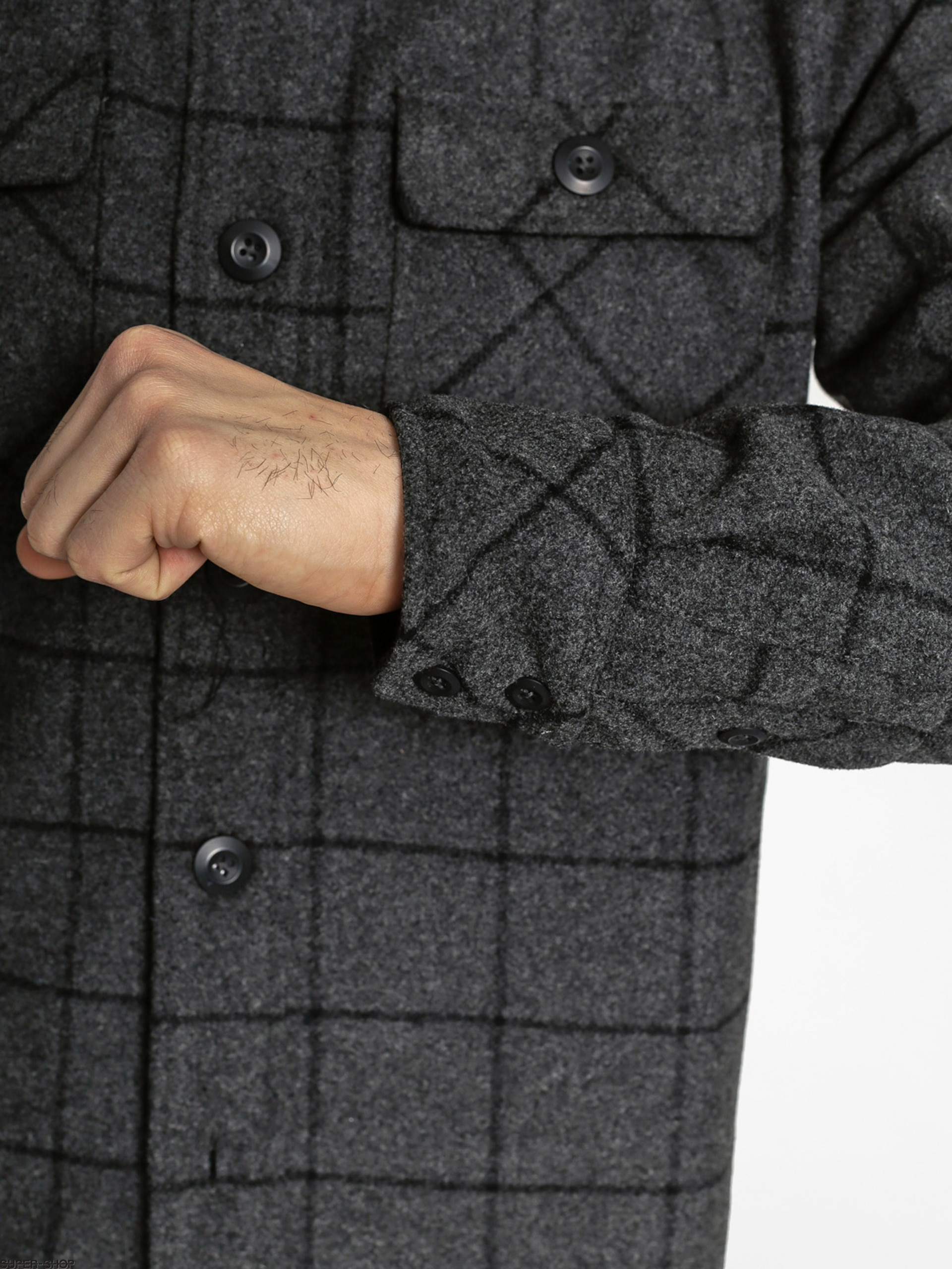 b8363dae95591 Nike SB Shirt Sb Holgate Yarn Dye Wool LS (charcoal)