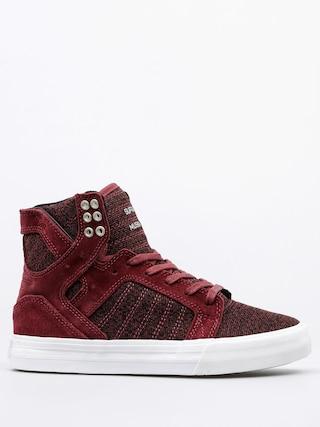 Supra Shoes Skytop Wmn (burgundy/white)