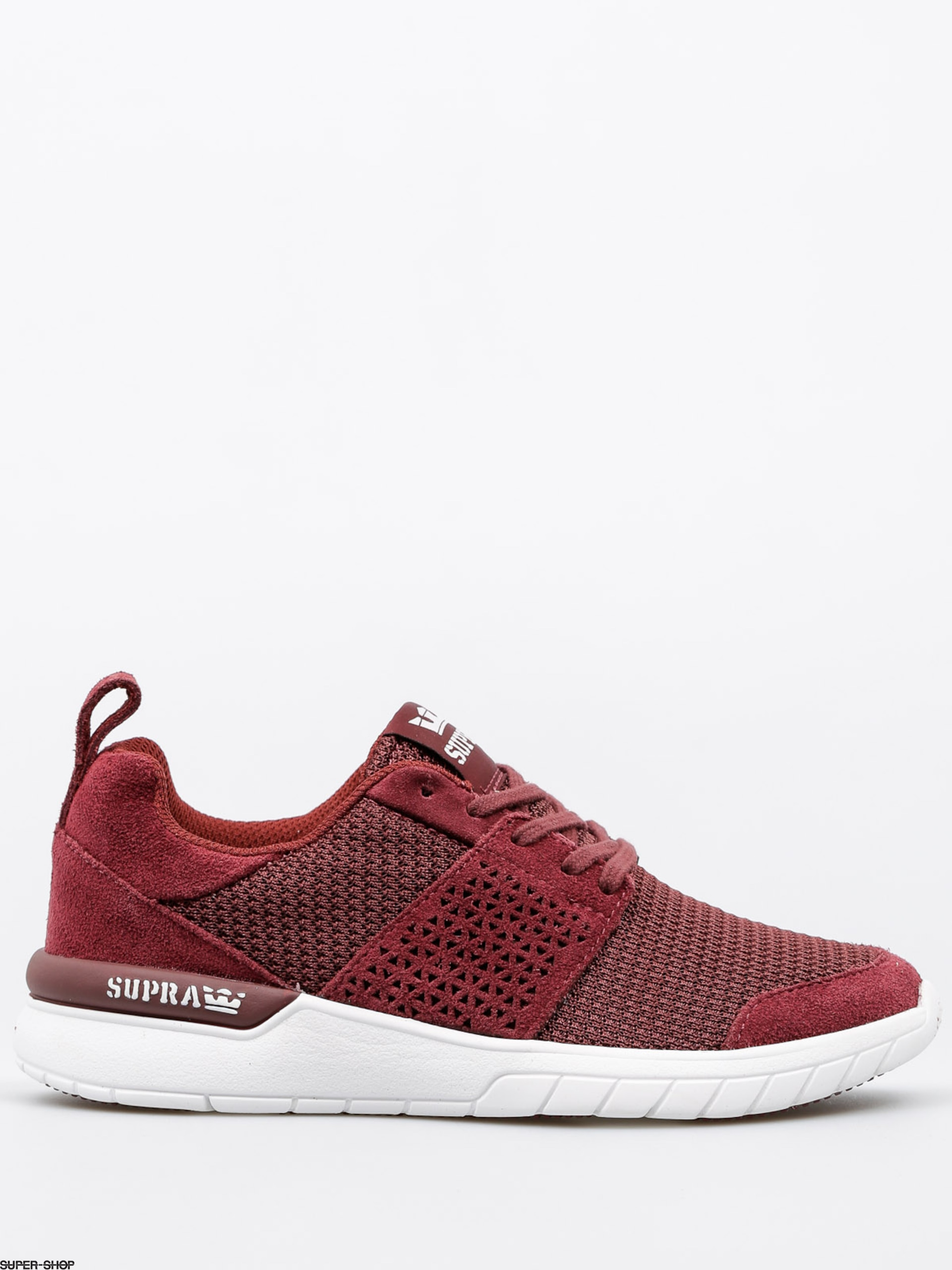 Supra Shoes Scissor Wmn (burgundy white) 04454f1ae
