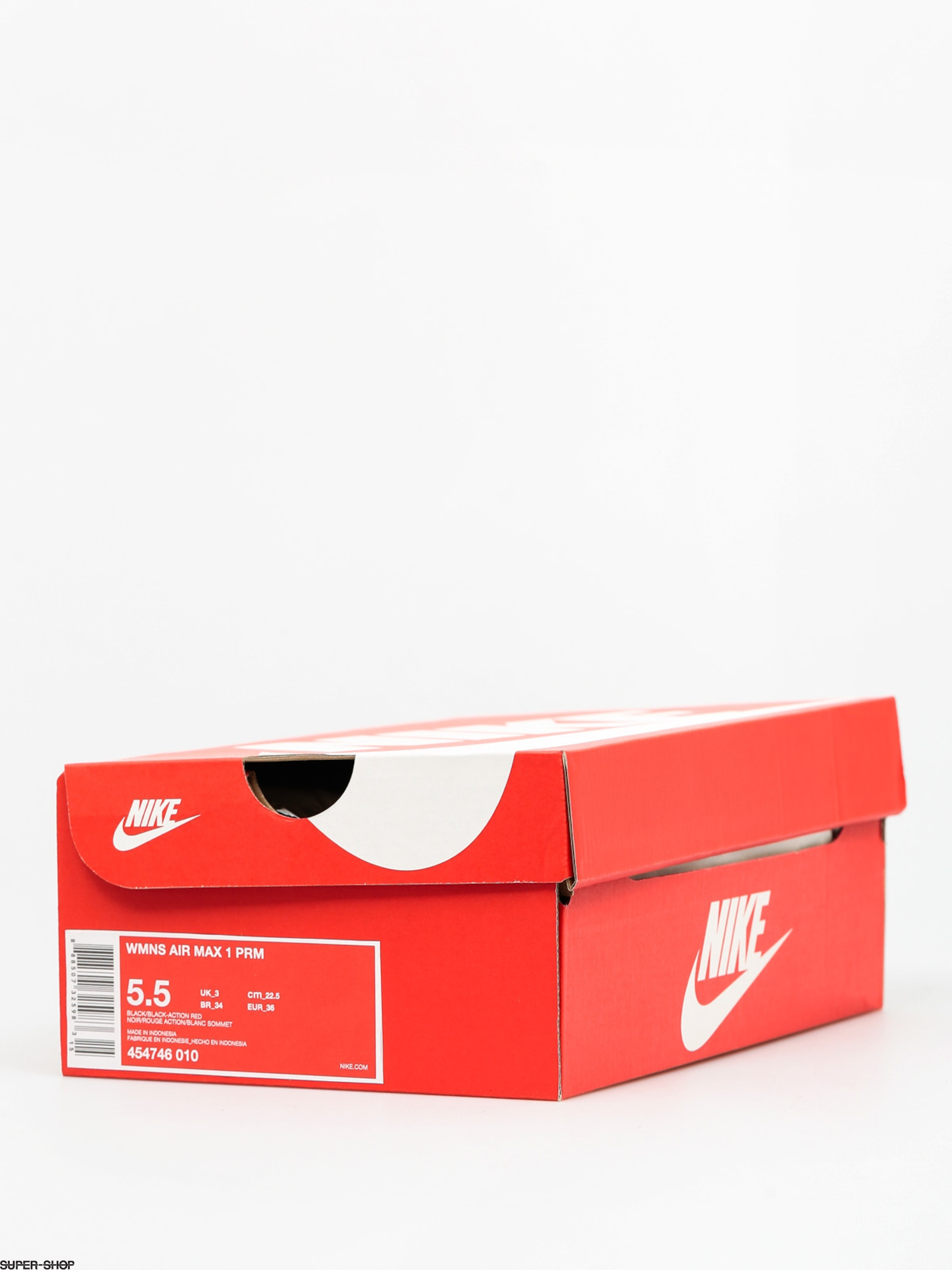 Nike Air Max 1 Shoes Wmn (Prm blackblack action red)