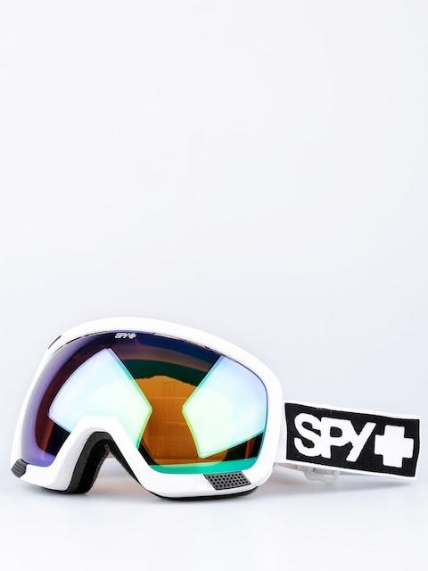 Spy Goggles Platoon (mt white/bronze/green spectra/yellow contact)