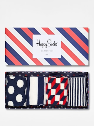 Happy Socks Socks Giftbox 4pk (navy/white/red)