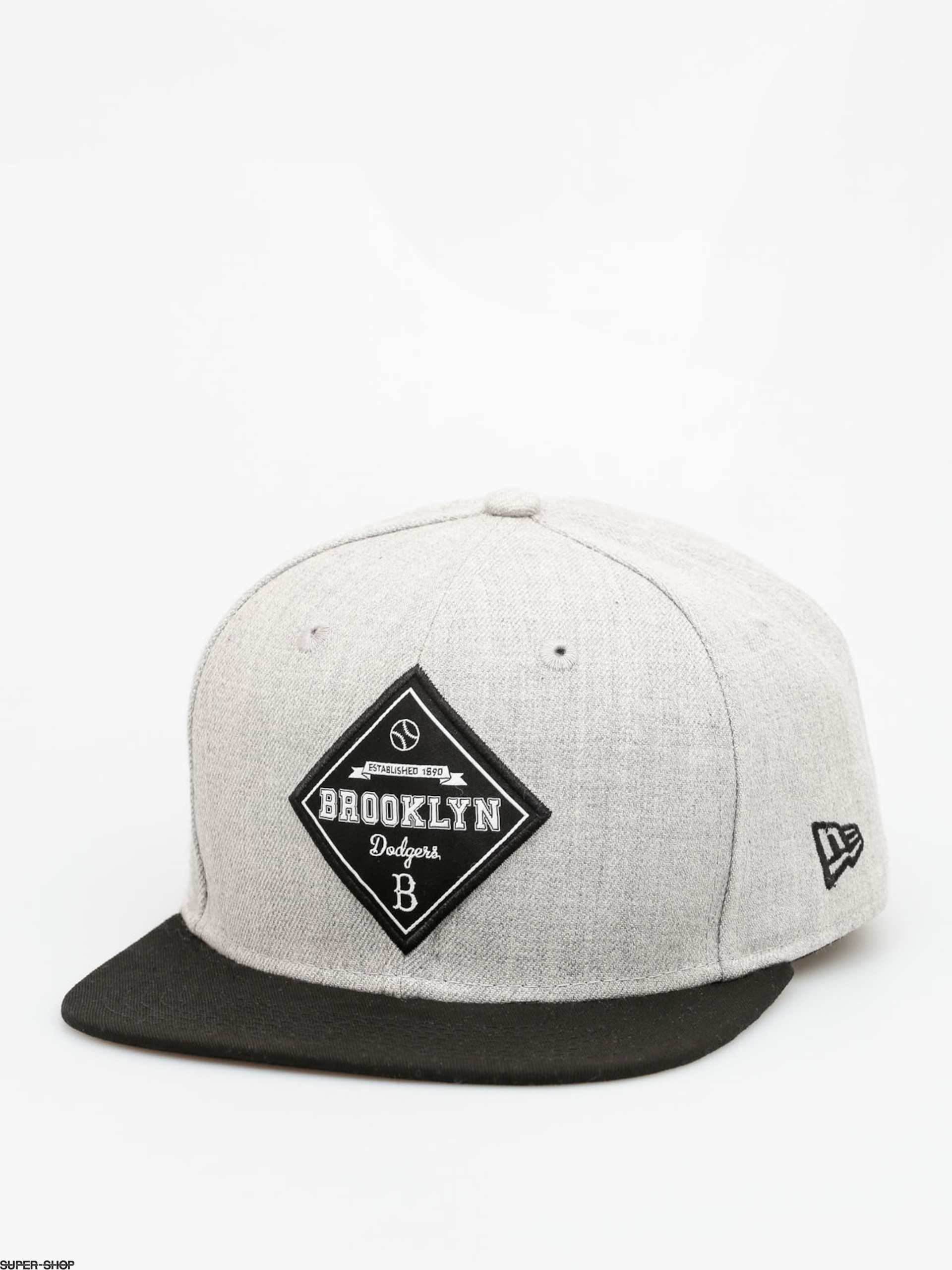 1a6335ed9bf New Era Cap Brooklyn Dodgers 01 ZD (black grey)